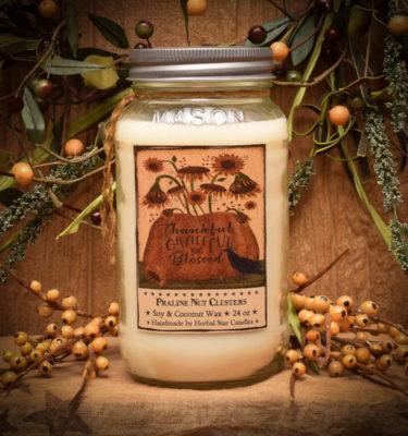 Praline Nut Cluster 24 oz jar candle
