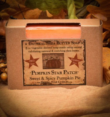 Pumpkin Star Patch bar soap