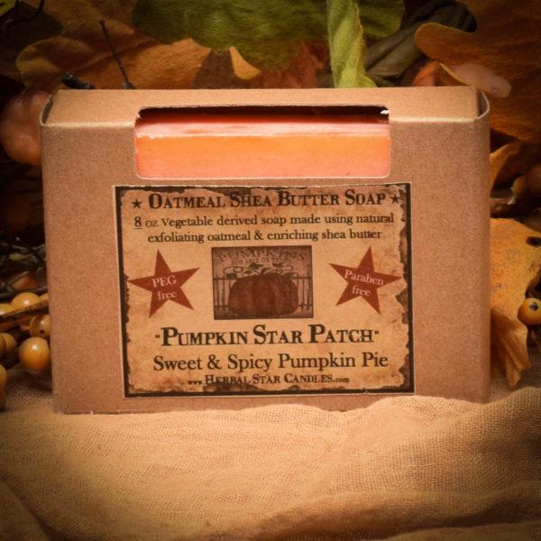 Pumpkin Star Patch bar soap