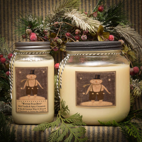 Winter Star Dust candles