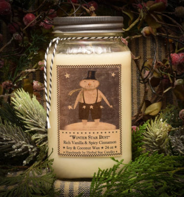 Winter Star Dust 24 oz jar candle