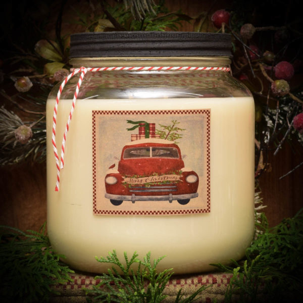 Olde Holiday Glow Mason Jar-64 oz
