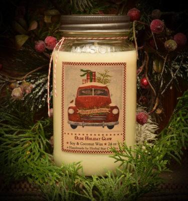 Olde Holiday Glow Mason Jar-24 oz