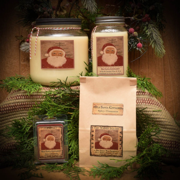 Old Santa Cinnamon Mason Jar Candle Collection