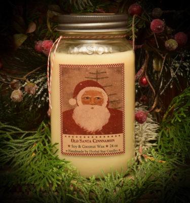 Old Santa Cinnamon Mason Jar Candle-24 oz