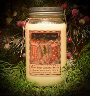Christmas Sweets 24 oz mason jar