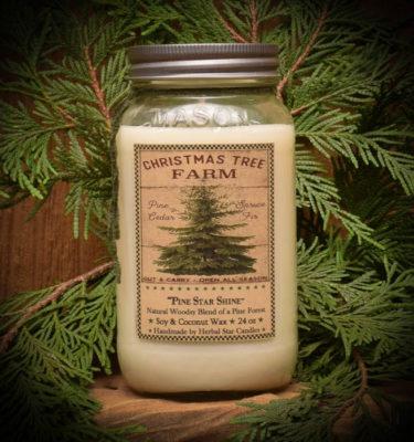 Pine Star Shine Mason Jar Candle-24 oz