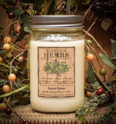 Fresh Herbs 16 oz Jar Candle