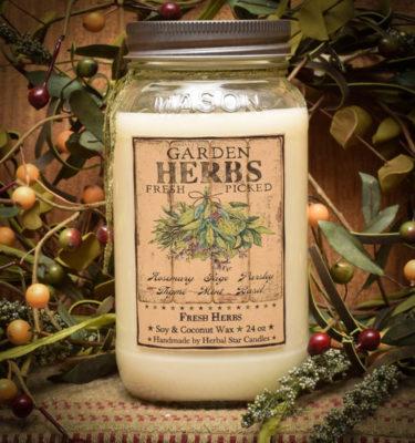 Fresh Herbs 24 oz Jar Candle