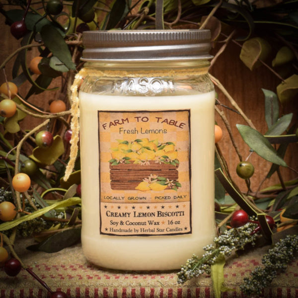 Lemon Daisy 16 oz Jar Candle