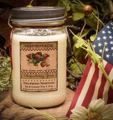 Strawberry Shortcake 16 oz Jar Candle