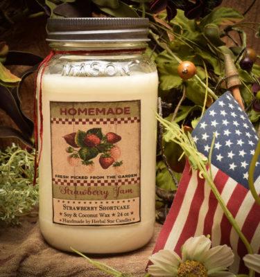 Strawberry Shortcake 24 oz Jar Candle