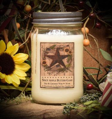 Barn Star Spice 16 oz jar candle