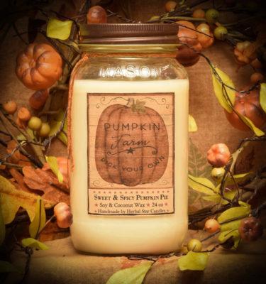 Pumpkin Star Patch 24 oz jar candle