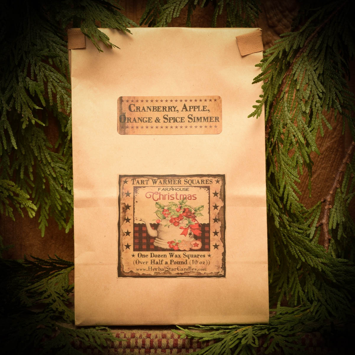 Cranberry Spice Simmer bag of 12 tarts