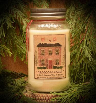 Orange & Clove 24 oz jar candle