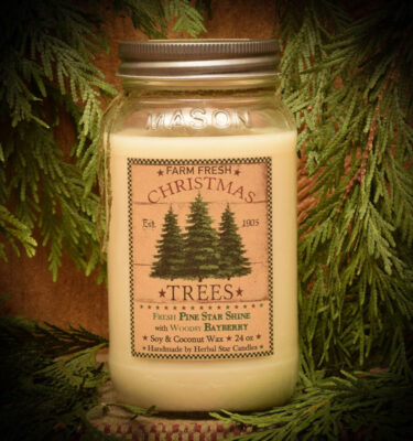 Pine Star Shine with Woodsy Bayberry 24 oz Jar Candle