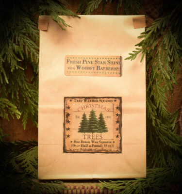 Pine Star Shine with Woodsy Bayberry Bag of 12 Tarts