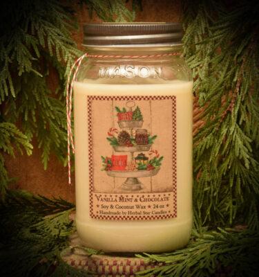 Vanilla Mint with Chocolate 24 oz jar candle