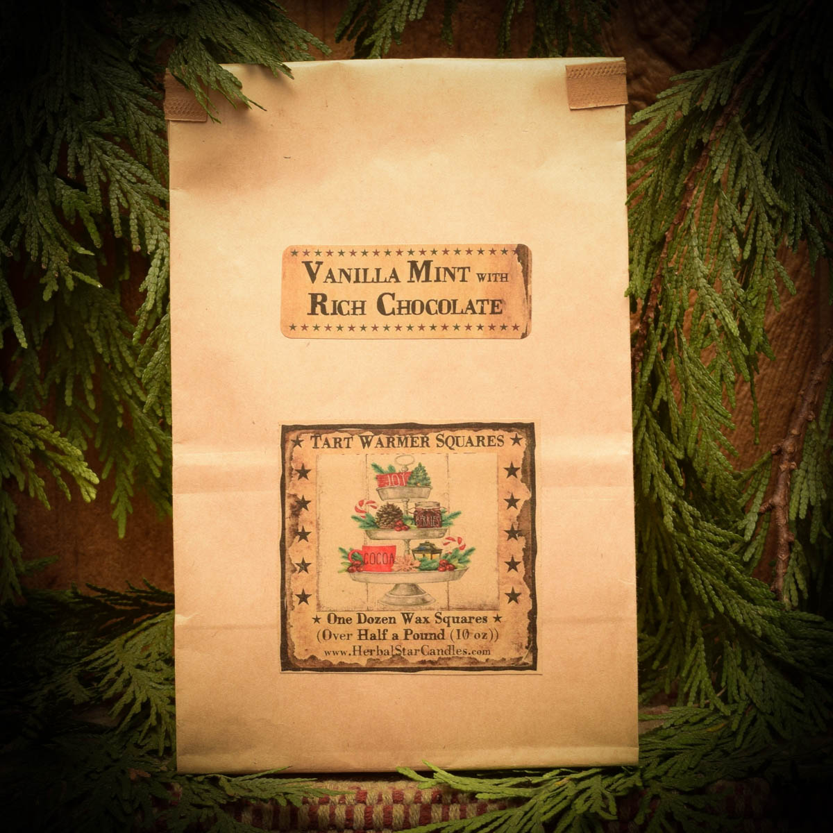 Vanilla Mint with Chocolate Bag of 12 Tarts