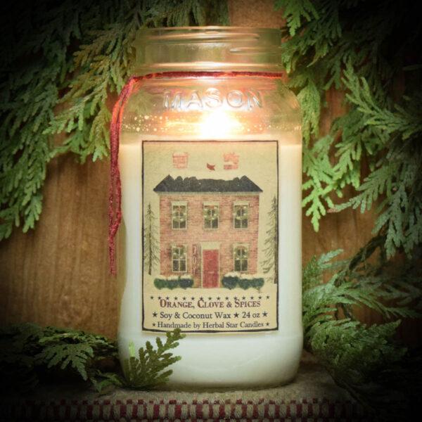 Orange Clove & Spice Burning Candle