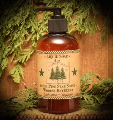 Pine Star Shine and Woodsy Bayberry Liquid Soap